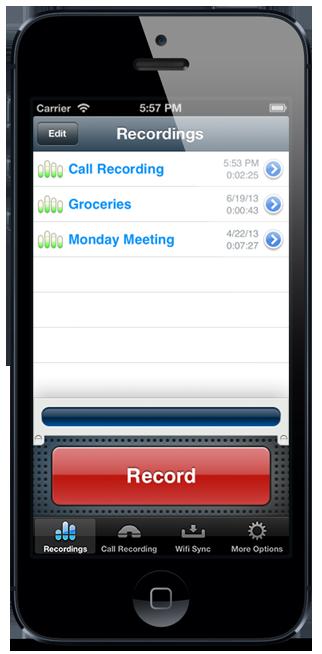 запись телефонного разговора для ios