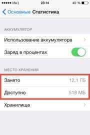 Почему уменьшается память на айфоне