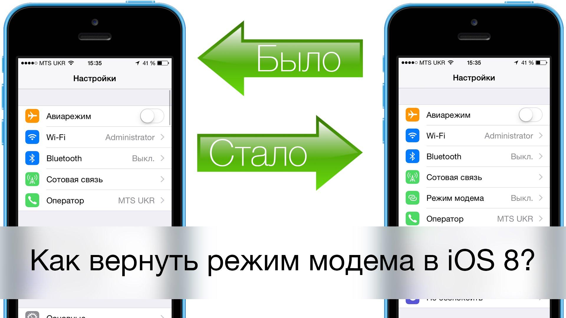 Как в айфоне сделать режим модема