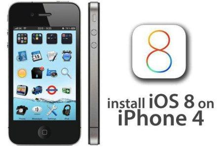 Обновление на айфон 4 ios 8