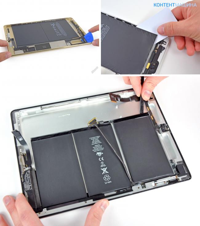 Замена батареи ipad своими руками