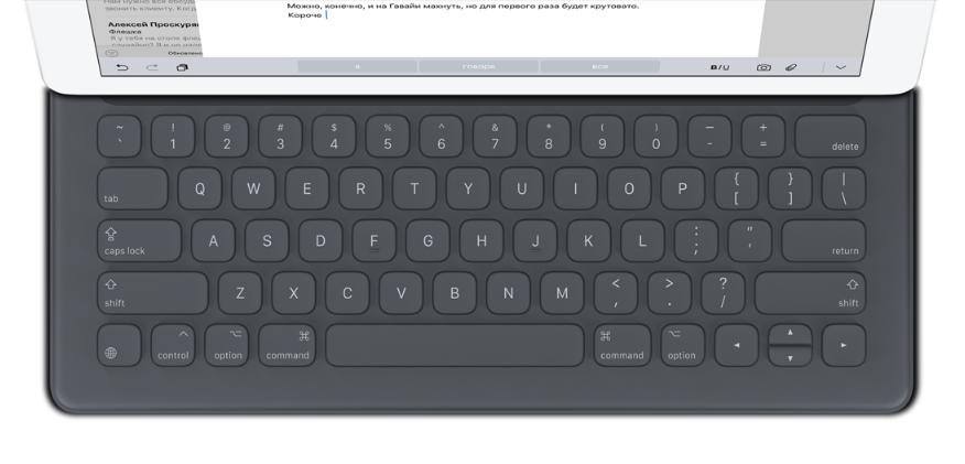 Обзор клавиатуры Apple Smart Keyboard для iPad Pro