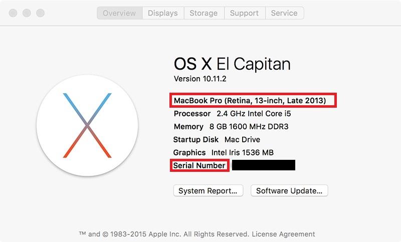 Проверка macbook по серийному номеру